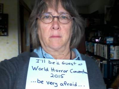 Lisa Tuttle - Horror Selfies - Ready to Scare WHC